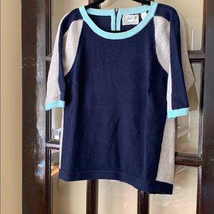 Anthropologie Field Flower color block sweater